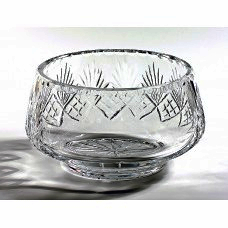 18cm Crystal bowl with panel (One only)