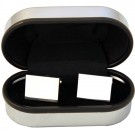 Silver-Plated Rectangle Cufflinks in Chrome Presentation Box